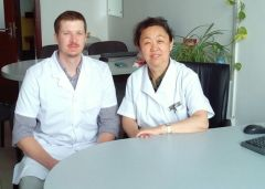 Outpatient clinic at Liaoning Hospital of Traditional Chinese Medicine