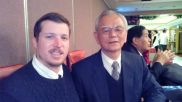 "With Dr.Wang at the ""Journal of Chinese Medical Acupuncture Science"" Banquet"